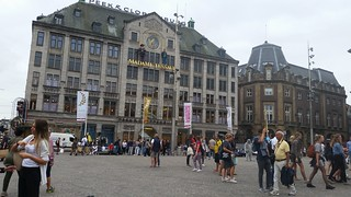 Image of Dam Square near Amsterdam. amsterdam netherlands holland nederland centrum dutch iamsterdam schiphol europe grotemarkt canals westerkerk nationaalmonument nationalmonument dam damsquare royalpalace madametussauds buildings edificios structures estructuras arquitectura architecture historic city urban people travel