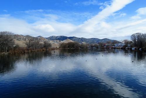 sands lake sandslake swa statewildlifearea salidacolorado salida colorado hotsprings winter duck ducks clouds
