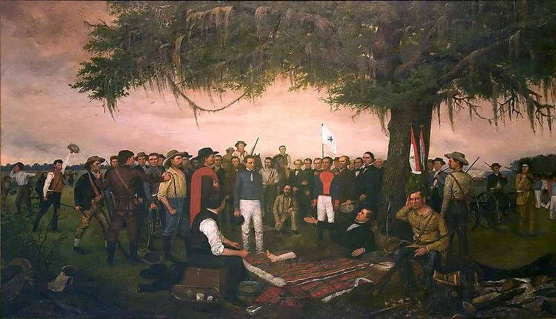 Surrender of Santa Anna, by William Henry Huddle
