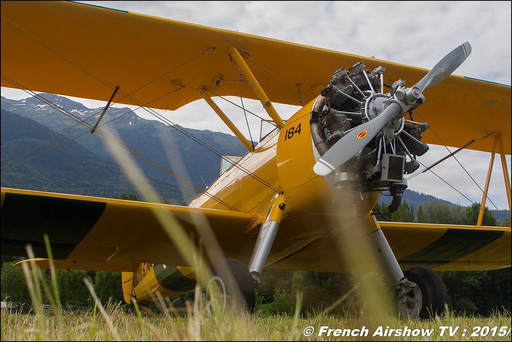Stearman Aero Retro ,Fête aerienne Albertville 2015, Meeting Aerien 2015