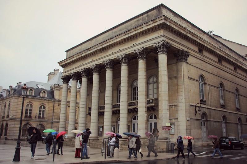 Opera de Dijon in Rain