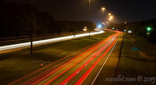 road nightphotography travel light ohio highway move toledo interstate sylvania i475