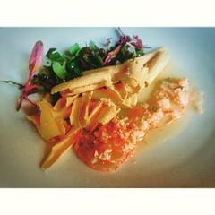 Bogavante marinado al momento con con virutas de Foie gras en el #restaurant #Aires de #XavierSagrista en el @hotelperalada #emporda #peralada #perelada #pereladagolf #pereladaresort #picoftheday #incostabrava #igersGirona #igerscatalunya #igersemporda #c