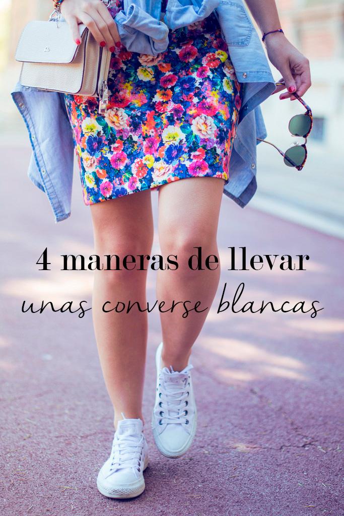 grandioso Consumir ventilación  4 maneras de llevar unas Converse blancas bajas - Marta Barcelona Style
