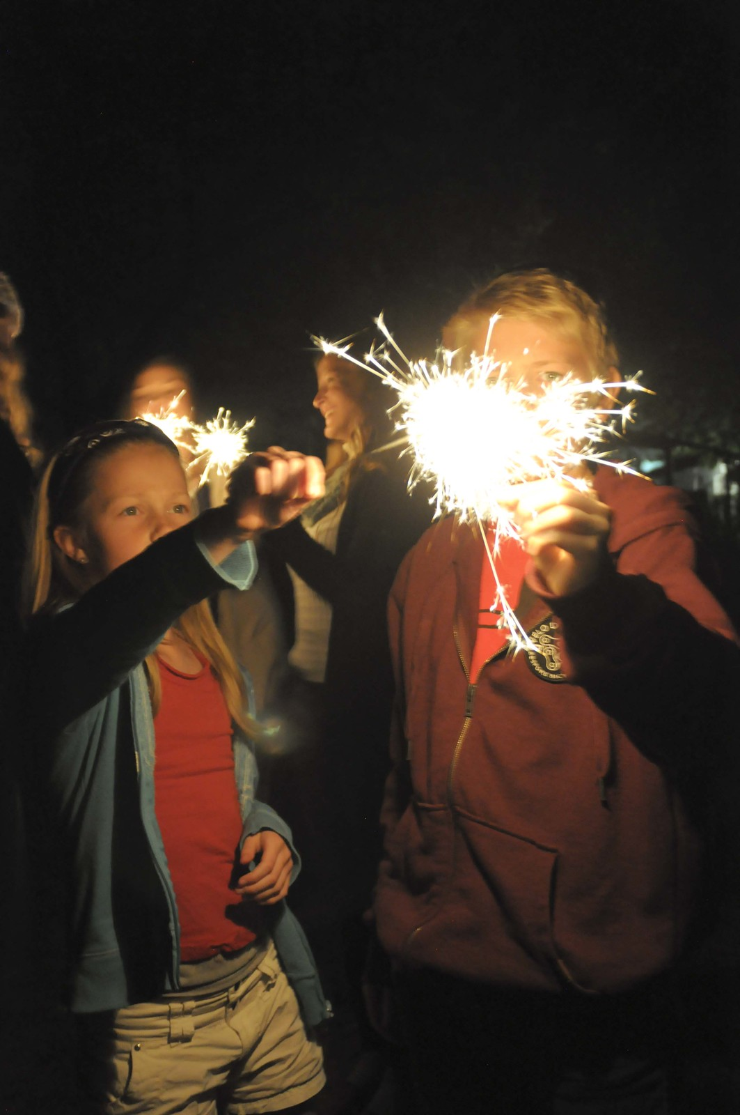 lighting a sparkler