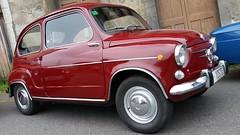 automobile, vehicle, fiat 600, city car, compact car, zastava 750, antique car, vintage car, land vehicle,