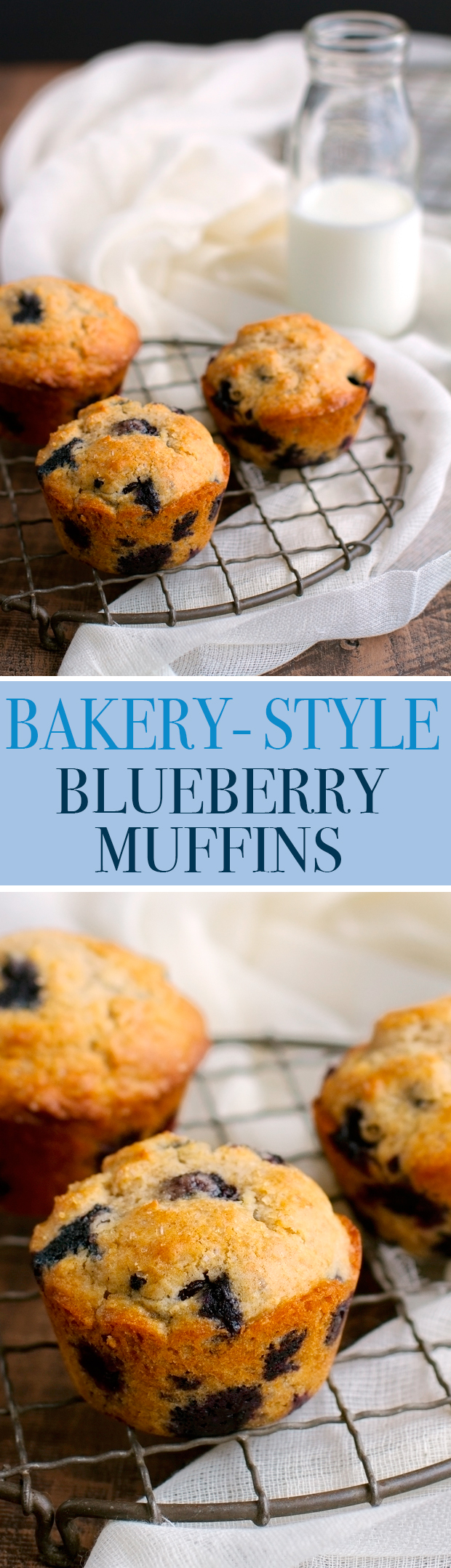 Bakery Style Blueberry Muffins - Ready in 30 minutes and the most tender muffins you've EVER had! #blueberrymuffins #muffins #bakerystylemuffins | Littlespicejar.com