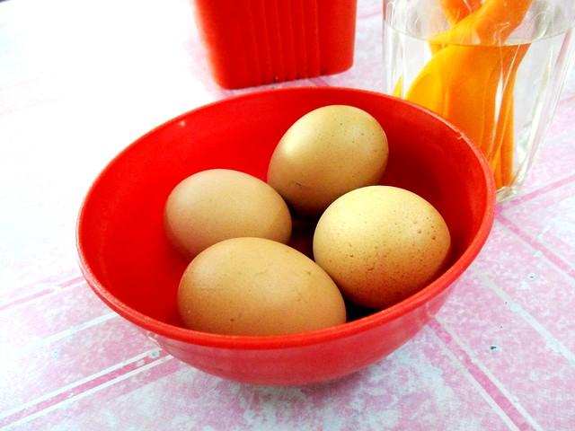 Sg Tenggang hardboiled eggs