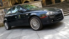 executive car(0.0), family car(0.0), alfa romeo 166(0.0), alfa romeo gt(0.0), alfa romeo 159(0.0), mid-size car(0.0), sedan(0.0), automobile(1.0), automotive exterior(1.0), alfa romeo(1.0), wheel(1.0), vehicle(1.0), alfa romeo 156(1.0), alfa romeo 147(1.0), city car(1.0), compact car(1.0), bumper(1.0), land vehicle(1.0), coupã©(1.0), hatchback(1.0),