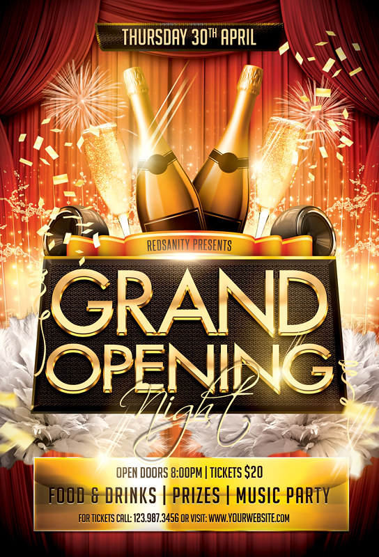 Grand Opening Flyer | Grand Opening Night Flyer Template Download The Photoshop Flickr