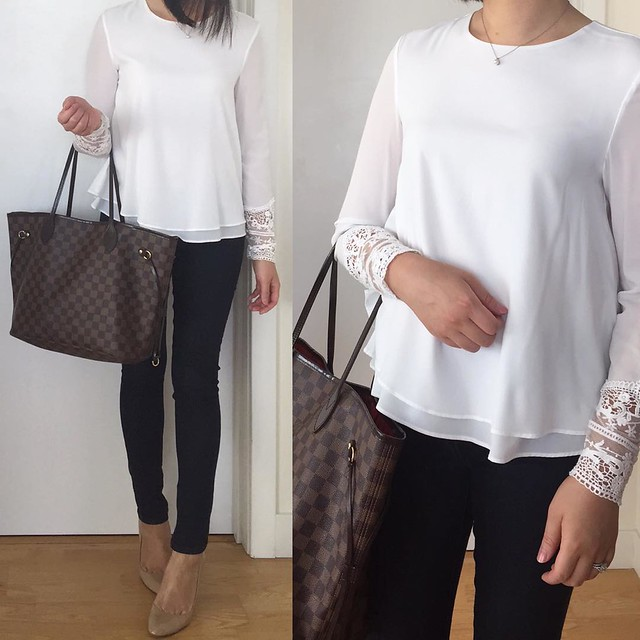 Zara Top With Embroidered Cuff Outfit