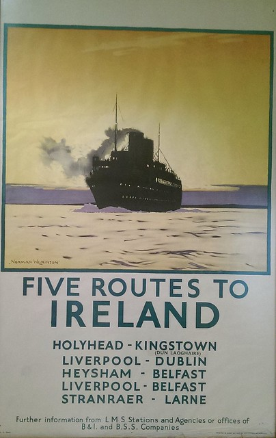 Old poster,  seen in the Station House Hotel, Clifden