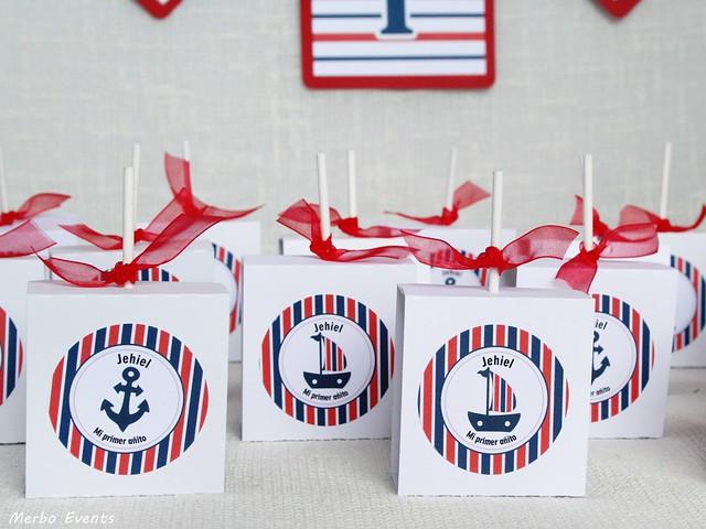 piruletas pra la mesa dulce de cumpleaños marinero
