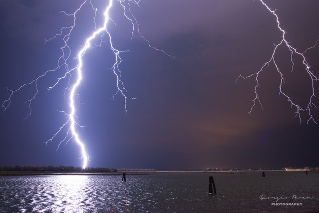 Lightnings over the Venice Lagoon