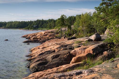 summer seascape sunshine stone suomi finland daytime kivi inkoo auringonpaiste kopparnäs merimaisema afsnikkor50mmf18g nikond610 annekaihola