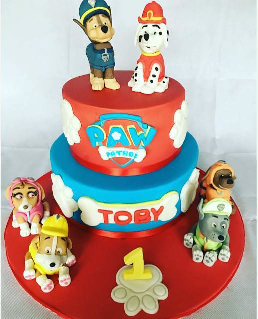 Paw Patrol Cake With Hand Sculptured Figures By Jo Anne Wilkinson
