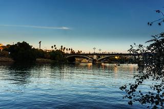 Image of Puente Isabel II. bridge river sevilla spain andalucía spanien es