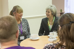 Prime Minister Theresa May visits Safe Haven centre