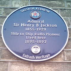 Photo of Henry B Jackson blue plaque