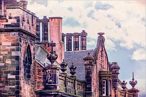 Top of Scottish Building