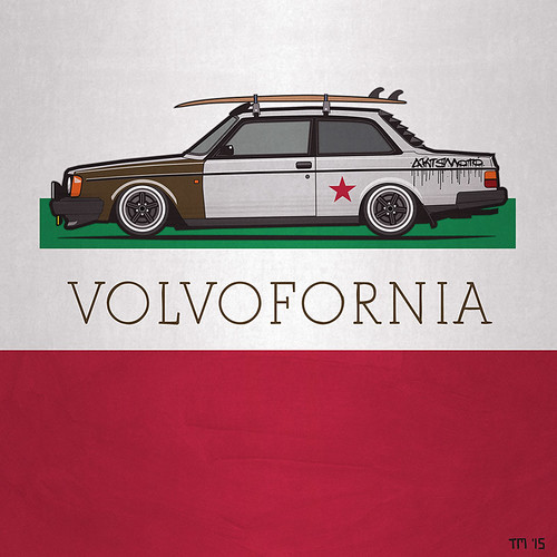 Volvofornia lowered Volvo 244 Turbo Coupe California Style