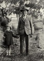 Boot-maker John Hockney, with his niece Rae Martin, courtesy of Martin Dunstan.