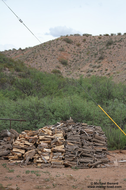 Woodpile in New Mexico