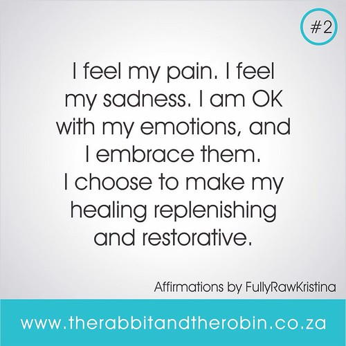ON THE BLOG 10 Affirmations for Self Love by @fullyrawkristina  I will be Posting 1 Affirmation everyday for 10 days. REPOST SAVE SHARE #2    I feel my pain. I feel my sadness. I am OK with my emotions, and  I embrace them. I choose to make my healing rep