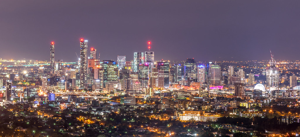 Brisbane CBD from Mt Coot-tha