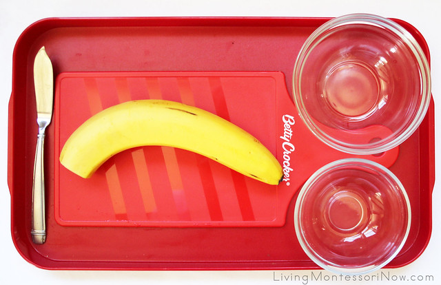 Banana Cutting Tray for Toddlers