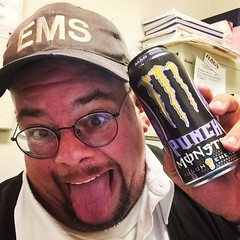 After only 1 hour and 52 minutes of sleep... it\'s a #Monster moment... #MyEMSDay