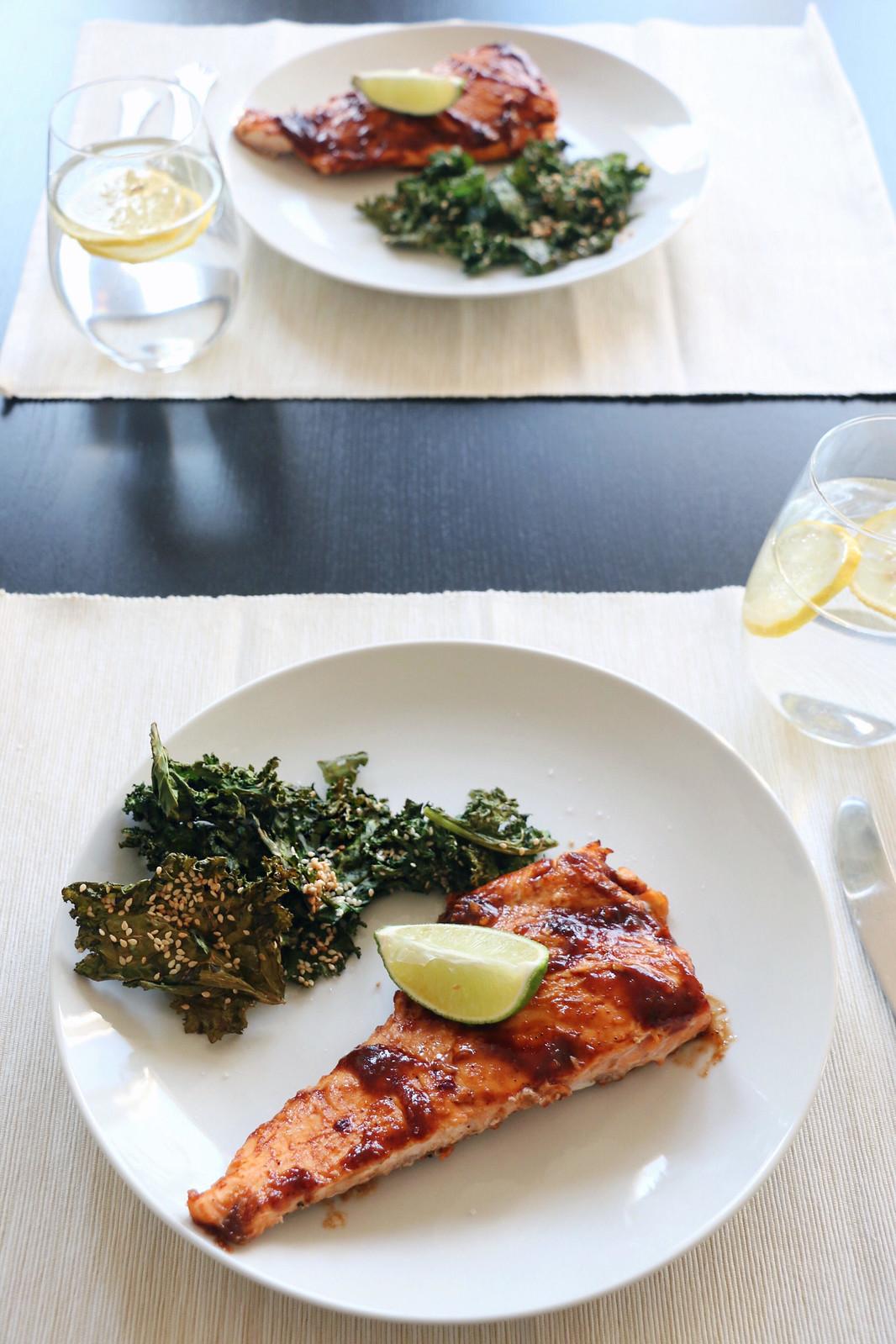 salmon & crispy kale 4