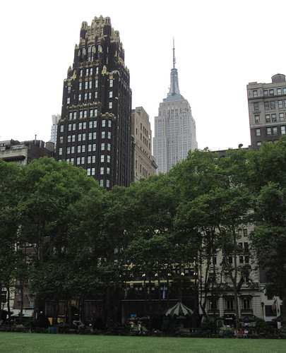 Empire State Building and Bryant Park, New York