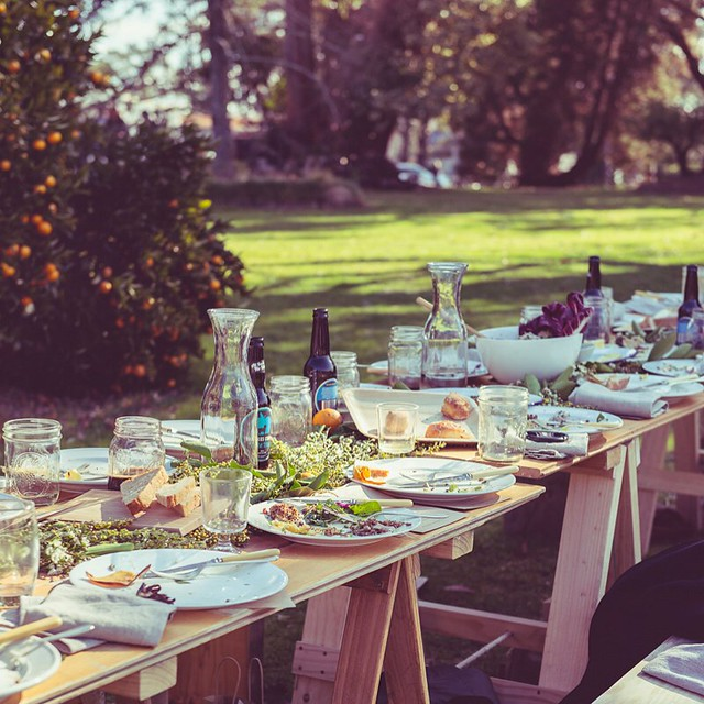 When even the aftermath is divine you know it was a good day. . . . Thanks @theassemblyhome for a lovely afternoon, @glenbernieorchard for a stunning setting & @missarahglover for a gorgeous plant-based feast ??