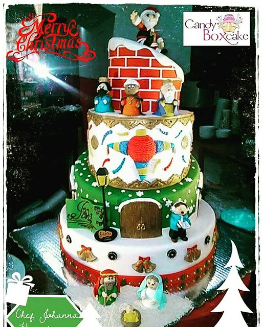 Christmas Cake by Johanna Hurtado of Pastelería Candy Box Cake