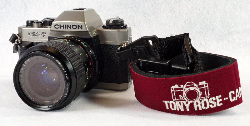 RD14976 Chinon CM-7 35mm SLR Film Camera, 50mm Ozunon Lens, Manuals & Coastar Case DSC07822