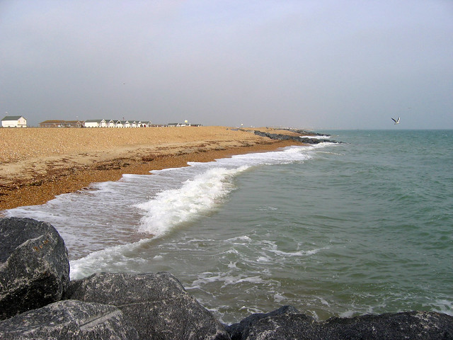 The beach at South Lancing