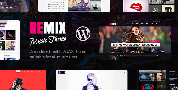 Remix v3.6.3 – Music and Musician Ajax WP Theme