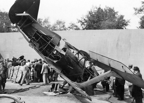Captured Soviet Polikarpov I-15 on display in the City Park  Budapest 1942.
