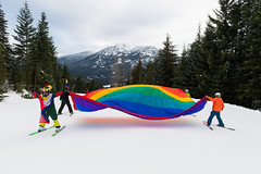 Whistler Pride ski out and village parade