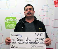 Sergio Diaz - $12,488 InstaPlay Idaho Jackpot