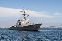 USS Milius (DDG 69) returns home to San Diego, June 25. (U.S. Navy/MC2 Ryan J. Batchelder)
