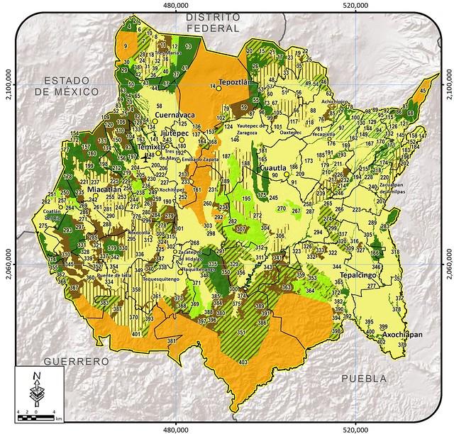 Programa de Ordenamiento Ecológico Regional Morelos POEREM - mapas