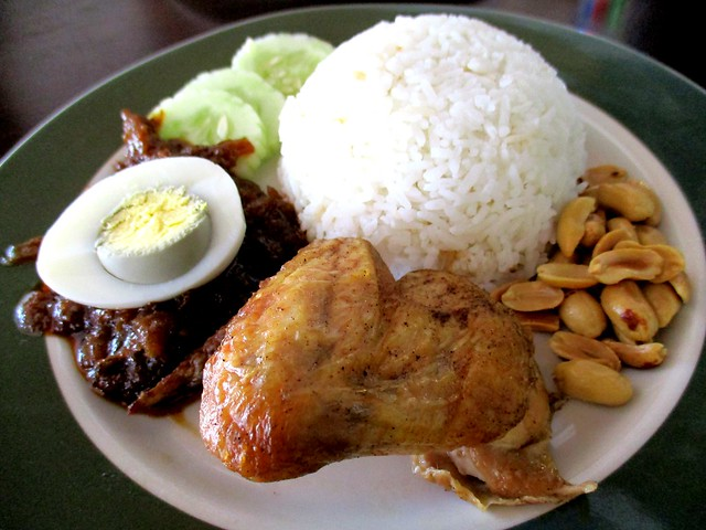 Colourful Cafe nasi lemak chciken wing