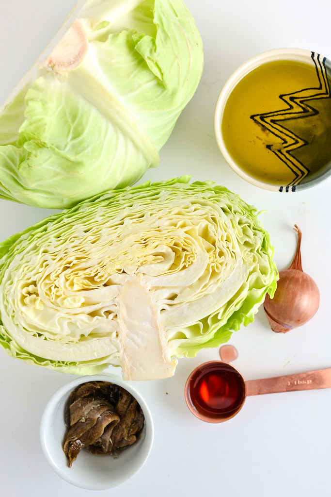 Grilled Cabbage with Anchovy Sauce | Things I Made Today