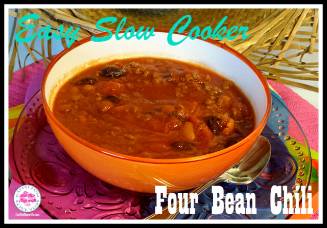 Slow Cooker Easy Four Bean Chili (the flip flop wife)