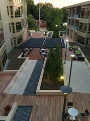 courtyard, backyard, roof, property, yard, deck, estate, patio, residential area, apartment, home, walkway,