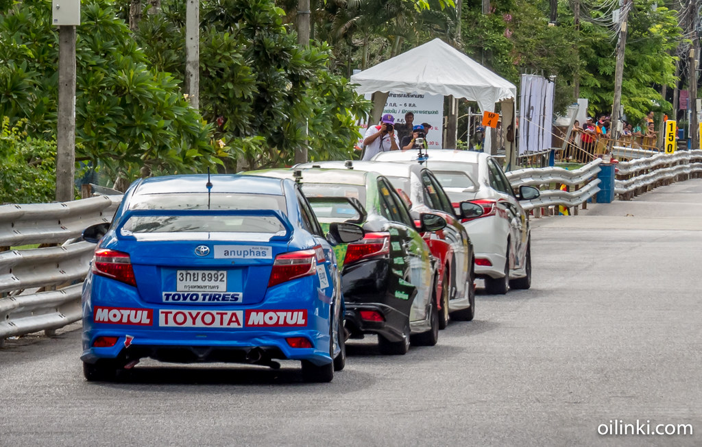 Phuket street car race fun