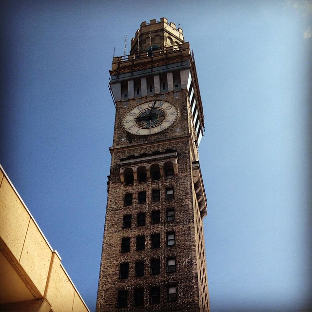 Save the clock tower! #backtothefuture #baltimore #clock #tower