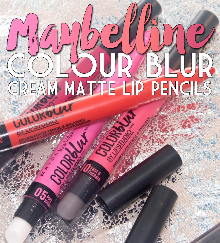 maybelline colour blur 05 pink insanity, 10 fast & fuchsia, 20 orange ya glad, 40 my-my magenta  (1)